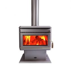 Clean Air Large Console Freestanding Wood Fireplace