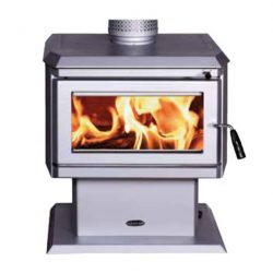 Clean Air Small Console Freestanding Wood Fireplace