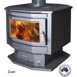 Eureka Duet Double Sided Freestanding Wood Fireplace