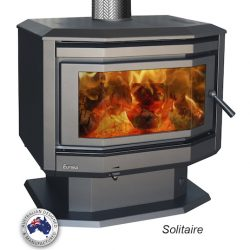 Eureka Solitaire Freestanding Wood Fireplace