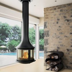 Bordelet Lea 998 Suspended Wood Fireplace