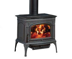 Lopi Rockport Hybrid Freestanding Wood Fireplace