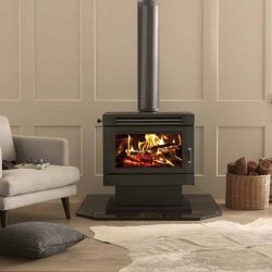 Saxon Mahogany Freestanding Wood Fireplace
