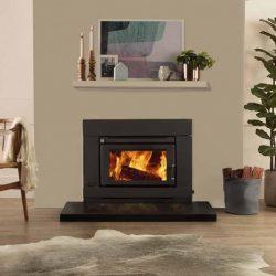 Saxon Blackwood Inbuilt Wood Fireplace
