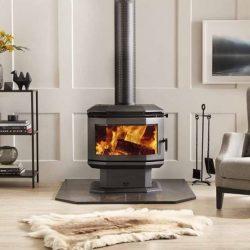 Saxon Rosewood Freestanding Wood Fireplace