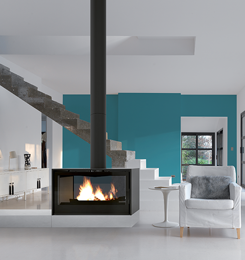 Axis I1000 Double Sided Freestanding Wood Fireplace