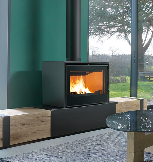 Axis I1000 Freestanding Wood Fireplace - Hawkesbury Heating