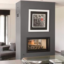 Axis H1200 Double Sided Inbuilt Wood Fireplace