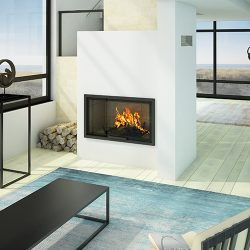 Axis H1200 Inbuilt Wood Fireplace