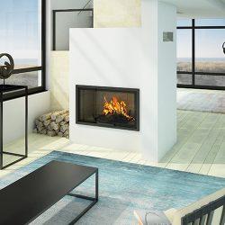 Axis H1200 Inbuilt Wood Fireplace