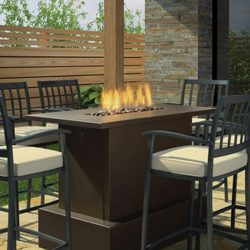 Regency Plateau Cocktail Outdoor Gas Fire Table