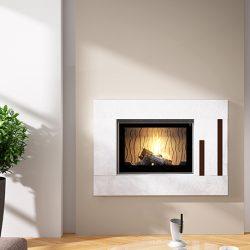 Seguin Europa 7 Black Line Glass Cast Iron Cheminee Fireplace