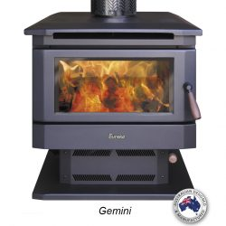 Eureka Gemini Double Sided Freestanding Wood Fireplace
