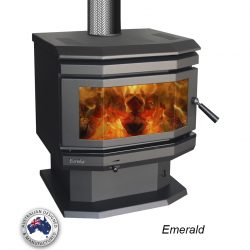 Eureka Emerald Freestanding Wood Fireplace