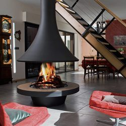 Bordelet Eva 992 Suspended Wood Fireplace