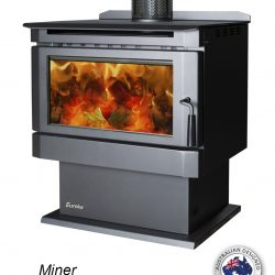 Eureka Miner Freestanding Wood Fireplace