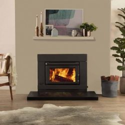 Saxon Blackwood Inbuilt Wood Fireplace