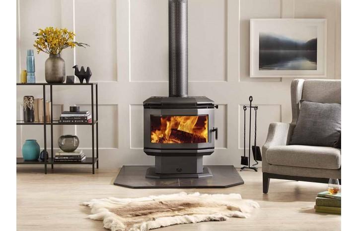 Saxon Rosewood Freestanding Wood Fireplace - Hawkesbury ...