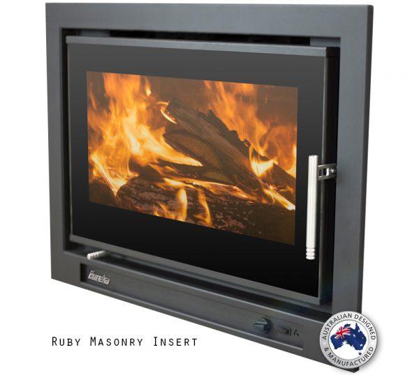 Eureka Ruby Inbuilt Wood Fireplace Hawkesbury Heating