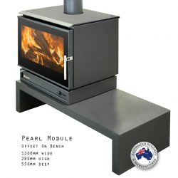 Eureka Pearl Module Freestanding Wood Fireplace
