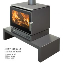Eureka Ruby Module Freestanding Wood Fireplace