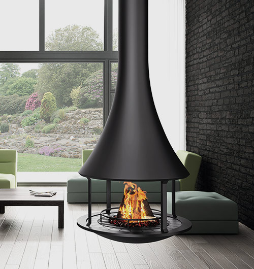 Bordelet Zelia 908 Suspended Wood Fireplace Hawkesbury Heating