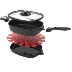 Weber Q Ware Large Casserole/Frying Pan Pack