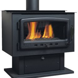 Nectre Freestanding Gas Log Fireplace