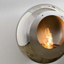 Cocoon Vellum Stainless Steel Bio Ethanol Fireplace