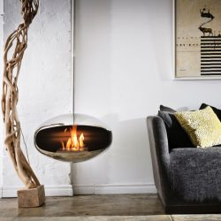 Cocoon Aeris Stainless Steel Bio Ethanol Fireplace