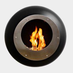 Cocoon Vellum Black Bio Ethanol Fireplace