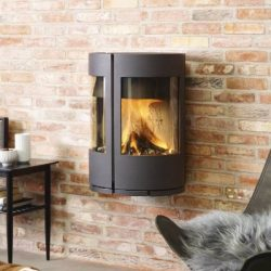 Morso 6670 Wall Mounted Wood Fireplace