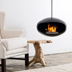 Cocoon Aeris Black Bio Ethanol Fireplace