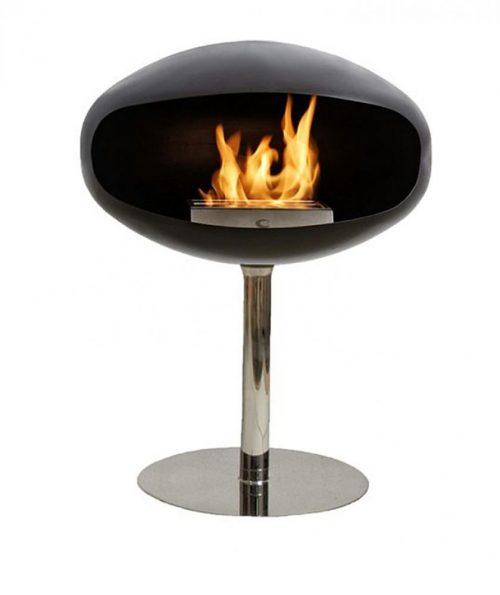 Cocoon Pedestal Black Bio Ethanol Fireplace Hawkesbury Heating