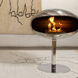 Cocoon Pedestal Stainless Steel Bio Ethanol Fireplace