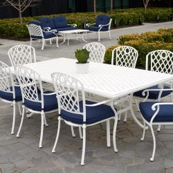 Nassau Dining with Whitehorse Chairs 9 Piece Setting