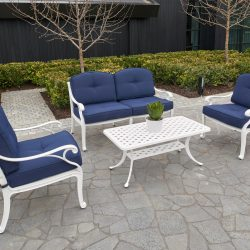 Melton Craft Nassau Deep Seat 4 Piece Lounge Setting