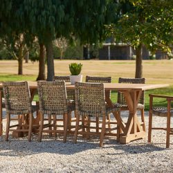 Melton Craft Bairo 9 Piece Corona Dining Setting