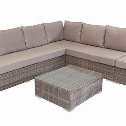 Shelta Ontario 4 Piece Corner Wicker Modular