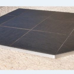 Underfire Slate Hearth Metal Edge