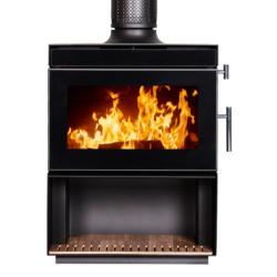 Kent Calisto Small Freestanding Wood Fireplace