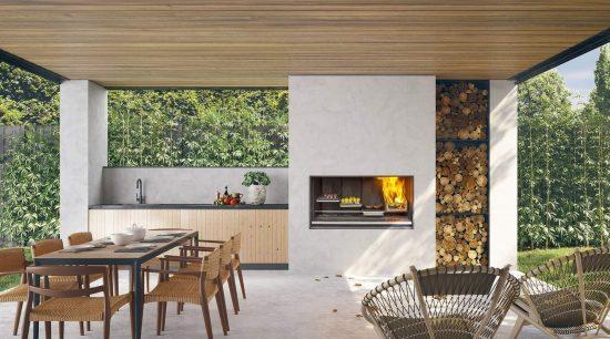 Escea Ek950 Outdoor Kitchen Fireplace Sale Hawkesbury Heating