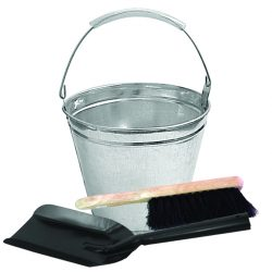 Galvanised Ash Bucket and Tool Set