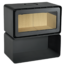 ADF 820NM-RS Freestanding Wood Fireplace