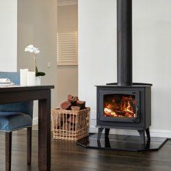 Eureka Jade Radiant Freestanding Wood Fireplace
