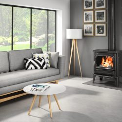 Seguin Saphir Cheminee Freestanding Wood Fireplace