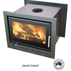 Eureka Jewel Insert Double Sided Wood Fireplace