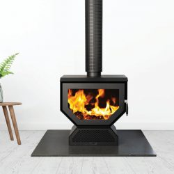 Coonara Woody Freestanding Wood Fireplace